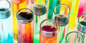 Colourful vials